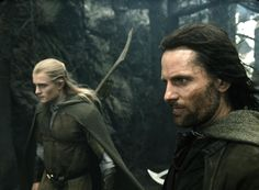Movie Photos: (left) Legolas (Orlando Bloom) and Aragorn (Viggo Mortensen) brace themselves before entering the Paths of the Dead in New Line epic adventure, The Lord of the Rings: The Return of the King. Rings Film, Fellowship Of The Ring, Lord Of The Rings, Legolas Y Aragorn, Rings Workout, Jackson, J. R. R. Tolkien, Between Two Worlds, Viggo Mortensen