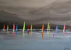 Watercolor Water, Abstract Watercolor, Abstract Art, Tableau Design, Seascape Paintings, New Artists, Stone Art, Artist Art, Sailboat