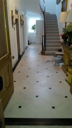 Client: Private Residence In Central London Brief: To supply & install Amtico to the client's hallway Amtico Flooring, Entryway Flooring, Hall Flooring, Granite Flooring, Flooring Ideas, Vinyl Flooring, Kitchen Flooring, Hall Tiles, Tiled Hallway