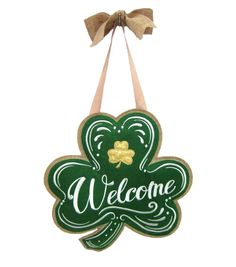 St. Patrick's Day Banner-Welcome