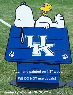 KENTUCKY WILDCATS  Snoopy Peanuts Huge Wood by duranduran2946, $45.00