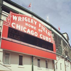 """Wrigley Field:  Nicole's favorite team. """"If you're going to condemn yourself to root for a team like the Cubs, you have to do it for reasons other than winning...."""""""