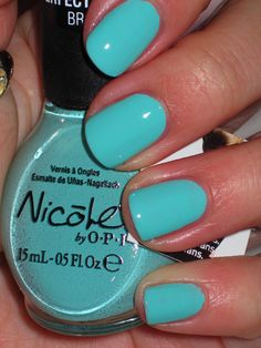 Gotta love this SHOCKING turquoise! Nicole by OPI - My Lifesaver
