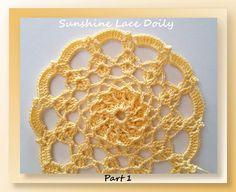 Free crochet pattern: Sunshine Lace Doily (Mystery CAL) by Crochet Memories
