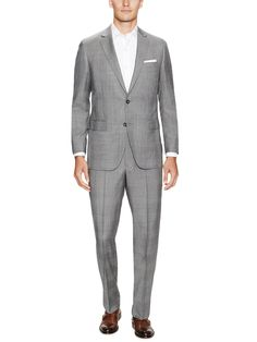 ccf5b9b1afb Fitzgerald 1818 Blue Wool Suit by Brooks Brothers at Gilt