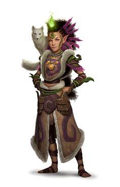 Female Halfling Druid - Pathfinder PFRPG DND D&D 3.5 5th ed d20 fantasy