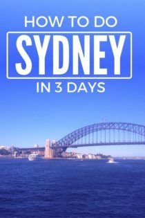 How to spend 3 days in Sydney, Australia. A great 3 day itinerary for solo travel in Sydney.