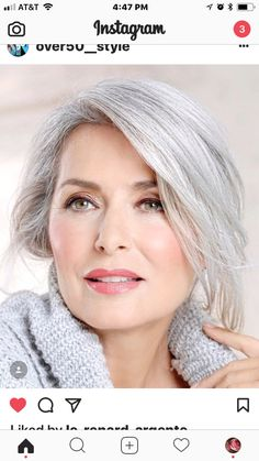 Beautiful soft glowing complexion and hair. Beautiful soft glowing complexion and hair. Beautiful soft glowing complexion and hair. Long Gray Hair, Silver Grey Hair, White Hair, Grey Hair Grey Eyes, Grey Hair For Pale Skin, Gray Hair Women, Silver Haired Beauties, Makeup Tips For Older Women, Older Woman Makeup