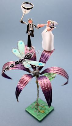 Dragonfly Wedding Cake Topper - Love this one!