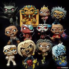 Open letter to Funko. Make these Iron Maiden Pops! Give us piece of mind somewhere in time. We have been troopers waiting patiently but it's time to unleash the number of the beast! Heavy Metal Rock, Heavy Metal Bands, Bruce Dickinson, Hard Rock, Iron Maiden Mascot, Iron Maiden Albums, Iron Maiden Posters, Eddie The Head, Iron Maiden Band