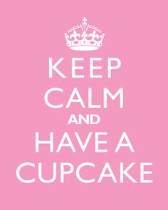 Keep Calm And Have A Cupcake - Home Decor Art Print on Etsy, $5.99