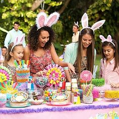 Bunny-ear favors will make your Easter party a real egg-stravaganza!