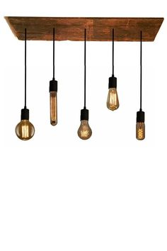 5 Bulb Reclaimed Wood Chandelier Pendant light by HangoutLighting