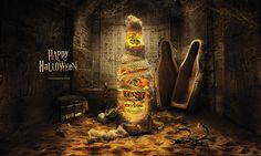Tiger Beer Halloween on Behance Ads Creative, Creative Advertising, Advertising Design, Tiger Halloween, Spooky Halloween, Tiger Beer, Digital Art Photography, Beer Packaging, Illustrations And Posters