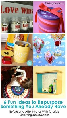 6 Clever Recycled Craft Ideas {Living Creative Thursday}   Living Locurto  -  Free Party Printables, Crafts & Recipes