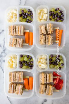 Fun and easy school lunch box idea. Sandwiches on a stick! #EasyLunchboxes