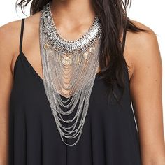 Dress up a simple tank with a coin necklace! Citadel Mall, Charleston, SC