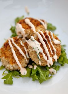 Cilantro Lime Fish Cakes with Sriracha Lime Sauce! | food for my family