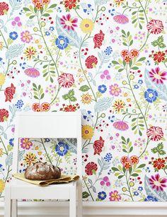 Amelie wallpaper from Sandberg - kitchen