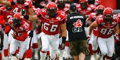 Calgary Stampeders Football- cause we love a man in uniform!