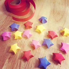 #七夕 #ラッキースター #origami #origamiluckystars #origamistar