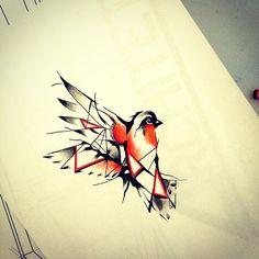 #abstract #robin #redbreast #bird #animal #draw #drawtattoo #art #artsy #artist…