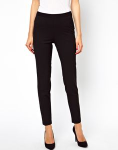 Image 4 of ASOS Skinny Pants with Zip Detail