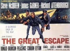 The Great Escape  Based on a true story. Steve McQueen's motorcycle escape as well as Charles Bronson & Donald Pleasance make this a must see!....Steve McQueen on Triumph T6  Motorcycle scene: http://www.youtube.com/watch?v=6zwW7iWinrk