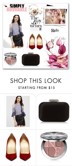 """shein"" by ahkarima-o ❤ liked on Polyvore featuring Jimmy Choo, Whiteley and Christian Dior"