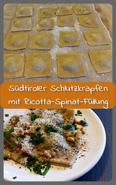 Südtiroler Schlutzkrapfen - meat meets me Homemade Pasta, Gnocchi, Healthy Life, Food And Drink, Healthy Recipes, Meat, Chicken, Savory Snacks, Meatless Recipes