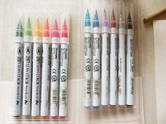 kuretake color brush pen