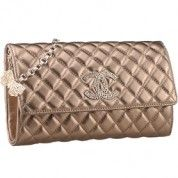 Chanel Quilted Antique Gold Leather Shoulder Flap Bag with Butterfly 7865  $198
