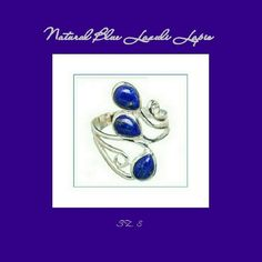 🎈LABOR DAY SALE🎈 🆕LAPIS LAZULI 925 SS RING 🆕 BEAUTIFUL & UNIQUE LAPIS LAZULI RING Stone.                      Lapis Lazuli Metal.                      Solid Sterling Silver Stone Sz.                25 X 8mm Wt.                             4.7gm Ring Sz.                   8 Beautiful & Unique Lapis Lazuli three tier Ring Not adjustable Jewelry Rings