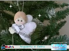 Felt Crafts, Diy And Crafts, Felt Angel, Christmas Projects, Doll Patterns, Holidays And Events, Christmas Tree Ornaments, Baby Dolls, Valentines