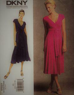 2008 Vogue DKNY Wrap Dress Pattern  Vogue by ShellMakeYouFlip