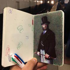 Los impresionantes bocetos a bolígrafo de Nicolas V. Sánchez