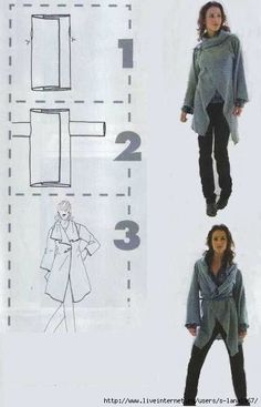Sewing clothes women jackets coat patterns new ideas Diy Clothing, Sewing Clothes, Clothing Patterns, Sewing Patterns, Coat Patterns, Skirt Patterns, Dress Sewing, Clothes Women, Blouse Patterns