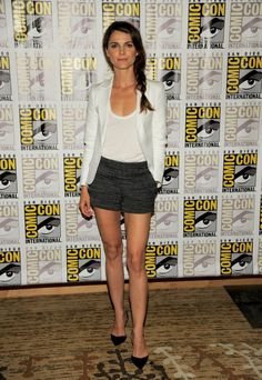 Keri Russell attends the 'Dawn of the Planet of the Apes' press line on Day 4 of Comic-Con International in San Diego on Saturday, July 20, 2013. (Chris Pizzello/Invision)