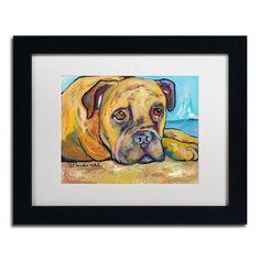 Pat Saunders-White 'Lexie' Framed Matted Art (11 x 14 Wood Frame)