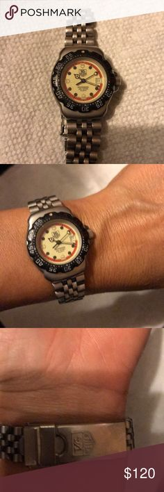Authentic Vintage Tag Heuer Woman's watch. Authentic Vintage Tag Heuer Woman's watch.  Need battery and possibly new crystal. Nice everyday watch. 200 meters Tag Heuer Accessories Watches