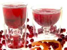 Cranberry-Orange #Spritzer - The #cranberry sauce and #orange #zest ...
