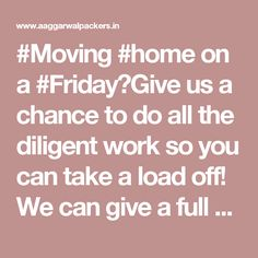 #Moving #home on a #Friday?Give us a chance to do all the diligent work so you can take a load off! We can give a full #packing service, just give a #call or check out our #website for more info!0931-656-6001/ 0931-646-6001#fridayfeeling
