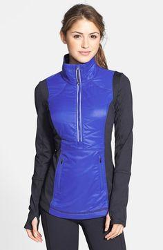 Zella 'Motion' Colorblock Half-Zip Jacket available at #Nordstrom