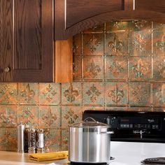 Fasade Backsplash Fleur De Lis In Copper Fantasy Google Search
