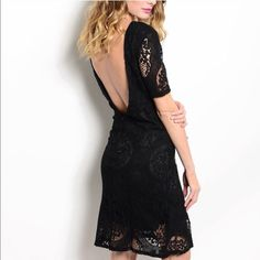 Stunning Cotton lace black dress. Date night! Please see above description. Size Large is sold out. Dresses