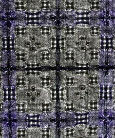 huck curtain detail - cotton/linen mix