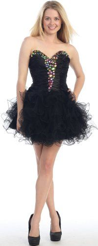 Strapless Cocktail Party Short Homecoming Prom « Dress Adds Everyday