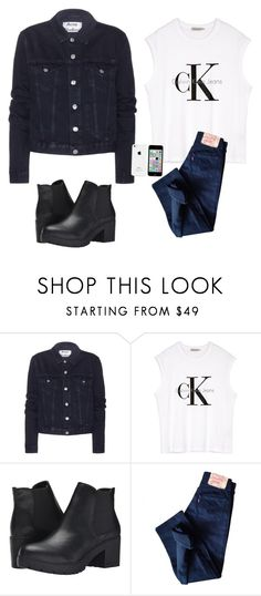 """Без названия #285"" by mariami-princess2013 ❤ liked on Polyvore featuring Acne Studios, Calvin Klein, Steve Madden and Levi's"