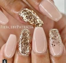 Image result for nude nails with gold