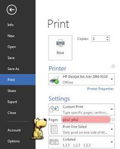Jasa Pengetikan Online Microsoft Office,Excel,Word,Print & Scan Autocad: Cara Print halaman 1-5, bukan I-V pada Microsoft Word
